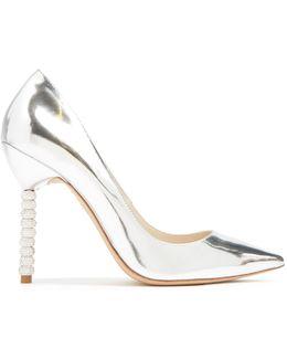 Coco Crystal Embellished-heel Leather Pumps