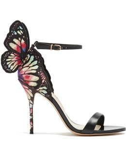 Chiara Butterfly-wing Suede Sandals