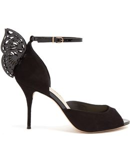 Flutura Butterfly-wing Suede Sandals