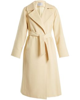 Soldato Drap Pure Camel Long Coat
