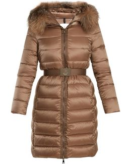 Tinuviel Hooded Fur-trimmed Quilted Down Coat