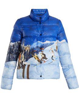 Brethil Ski Scene-print Quilted Jacket