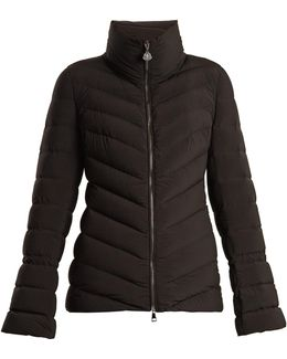 Solanum Funnel-neck Quilted-down Jacket