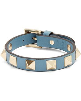 Rockstud Large Leather Bracelet