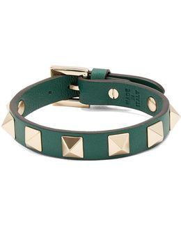 Rockstud Leather Bracelet