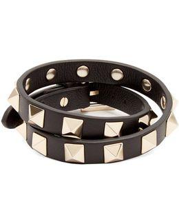 Rockstud Wraparound Leather Bracelet