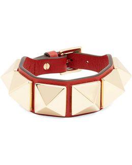 Rockstud Large Leather Bracelet
