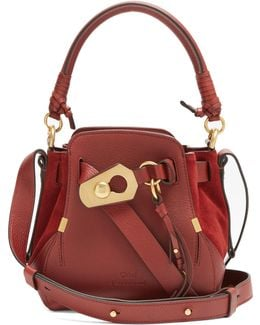 Owen Small Leather And Suede Shoulder Bag