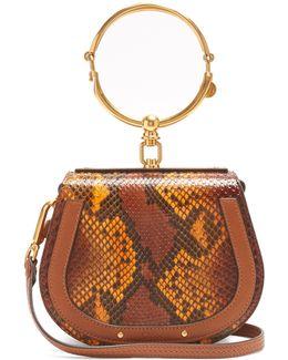 Nile Bracelet Small Python-effect Cross-body Bag