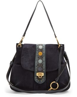 Lexa Medium Suede Shoulder Bag