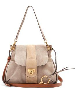Lexa Small Suede Shoulder Bag