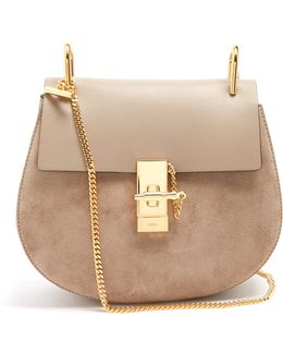 Drew Mini Leather And Suede Shoulder Bag