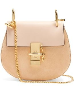 Drew Mini Leather And Suede Cross-body Bag