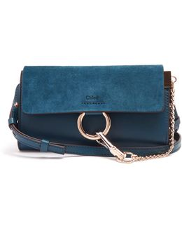 Faye Mini Leather And Suede Cross-body Bag