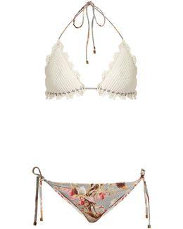 Mercer Crochet And Floral-print Bikini