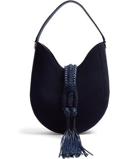Ghianda Small Suede Shoulder Bag