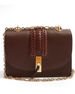 Ghianda Braided Pebbled-leather Shoulder Bag
