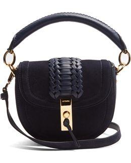 Ghianda Mini Suede Top-handle Cross-body Bag
