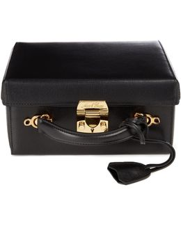 Grace Large Saffiano-leather Box Bag
