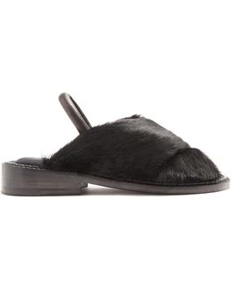 Bloss Fur And Leather Sandals