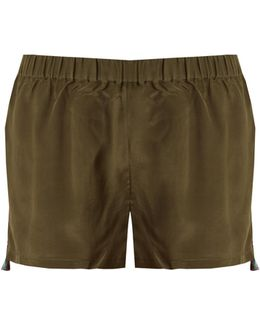 Cassia Embroidered Silk Shorts