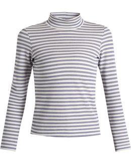 Iman Striped Cotton-blend Jersey T-shirt