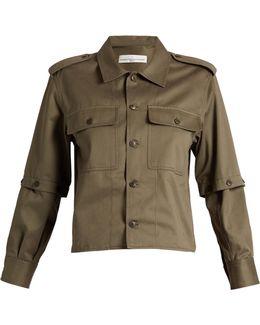 Tina Detachable-sleeve Cotton-twill Shirt