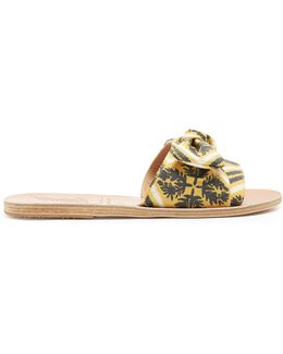 Taygete Bow Twill Sandals