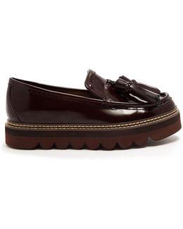 Tassel Platform Leather Loafers