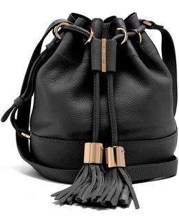 Vicki Medium Leather Cross-body Bucket Bag