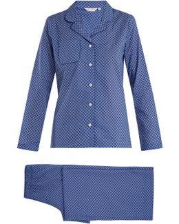 Ledbury 3 Geometric-print Cotton Pyjama Set