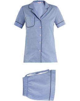 Shortie Cotton-batiste Pyjama Set