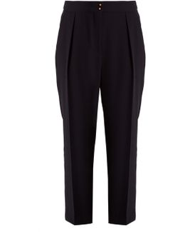 High-rise Tapered-leg Crepe Trousers