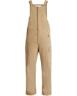 Straight-leg Stretch-cotton Dungarees