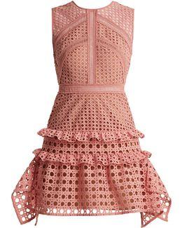 Crosshatch-lace Sleeveless Dress