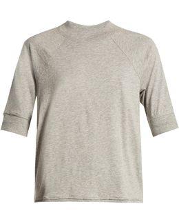 Short-sleeved Cotton-jersey Pyjama Top