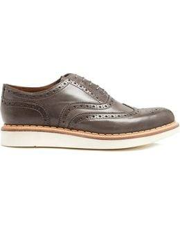 Stanley Raised-sole Leather Brogues