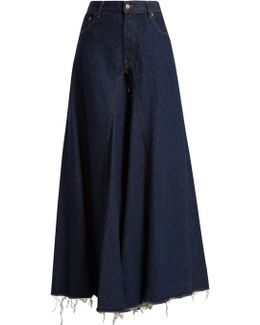Mid-rise Flared Wide-leg Jeans