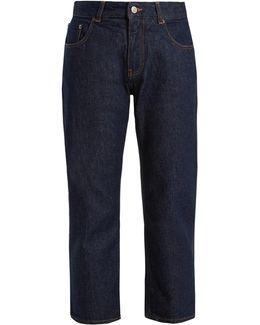 Stitched-cuff Boyfriend Jeans