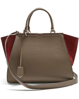 3jours Contrast-panel Leather And Suede Tote