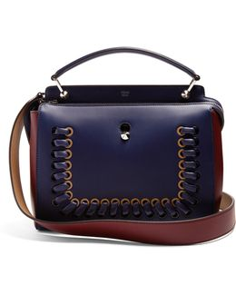 Dotcom Bi-colour Whipstitch Leather Bag
