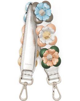 Strap You Mini Floral-appliqué Leather Bag Strap