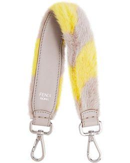 Strap You Mini Striped Fur Bag Strap