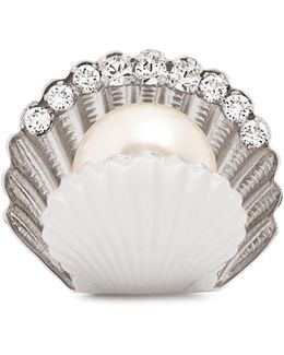 Shell Faux-pearl Embellished Ring