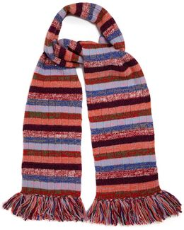 Striped Wool-blend Scarf