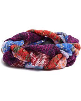 Braided-knit Wool-blend Headband