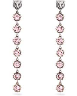 Tiger Crystal-embellished Earrings
