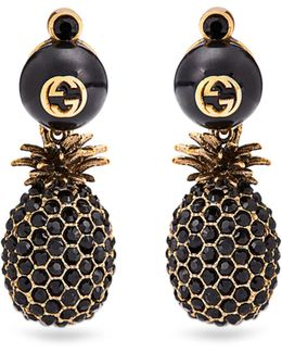 Pineapple Crystal-embellished Earrings