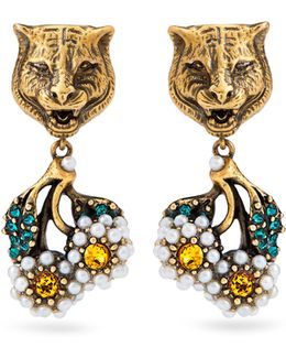 Feline And Daisy Earrings