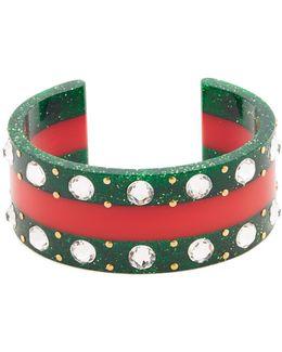 Web Crystal-embellished Cuff